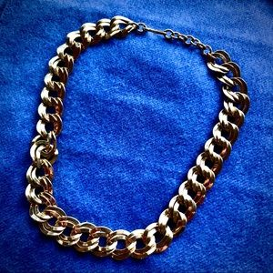 Monet Vintage Gold Chunky Double Chain Necklace